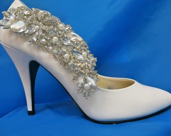 Bridal Shoe Clips, Pearl  Shoe Clips, Rhinestone Shoe Clips, Wedding Shoe Clips,Crystal Shoe Clips
