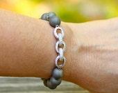 SALE , CZ Bracelet , Gray Bracelet , Drusy Bracelet , Agate Bracelet , Stretch Bracelet , High Fashion Bangle , Amy FIne Design