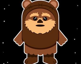 "Baby Nursery Ewok Star Wars 8"" by 10"" Print"