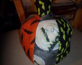 Batty Pumpkin Soft Sculpture Halloween Samhain Harvest
