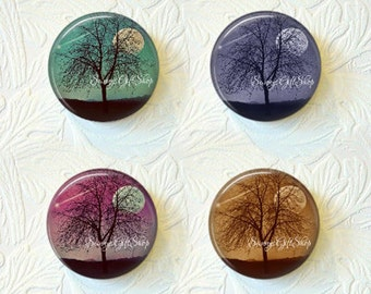 Tree Magnets, Shooting Star Magnets, Kitchen Magnets, Refrigerator Magnets, Magnet Set, Nature Magnets, Buy 3 Get 1 Free  349M
