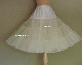Tea Length Crinoline. EXTRA Fullness Petticoat. Available in Several Colors.