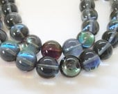 """Moonstone Beads, Blue Round Moonstone Glass Beads, Flashy Fire Stone Round Beads, Synthetic Glass Beads for Jewelry Making, 10mm 7.5"""" strand"""