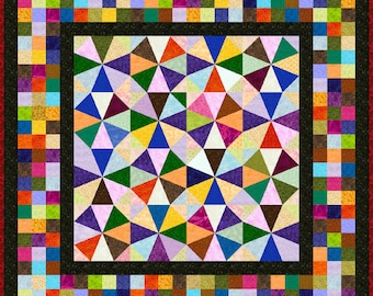 "IRONICAL - 53"" - Quilt-Addicts Pre-cut Quilt Kit or Finished Quilt Lap size"