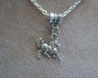 Barn Yard Animals, Silver Necklaces, 5 styles, Chicken, Cow, Pony, Ram, Cat, by Brendas Beading on Etsy