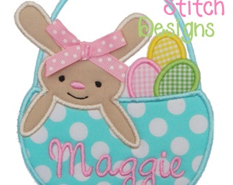 Easter Basket Applique Design Machine Embroidery Design INSTANT DOWNLOAD