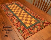 Fall Autumn Quilted Table Runner by Quilted Creations By Me