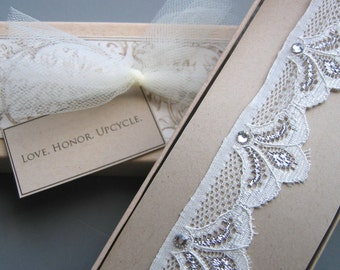 Eva - Art Deco Inspired Lace Bridal Garter