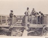 ALASKAN REAL PHOTO, 1930's Construction Workers, Yuma Co., Solomon, Alaska, Vintage Snapshot