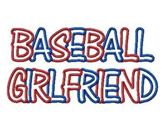 957 Baseball Girlfriend Embroidery Machine Applique
