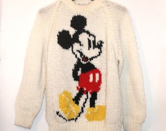 CLEARANCE SALE Rare 1970s Made in Korea Mickey Mouse Sweater