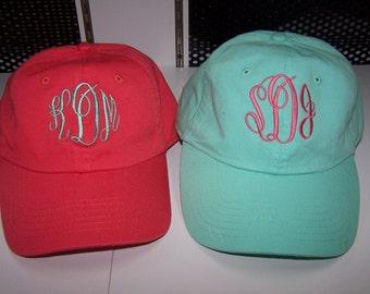 Monogrammed ball cap hat