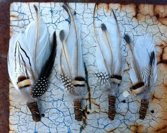 FREE SHIPPING 4 X Cherokee Feather  Boutonnieres