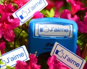 Large Self-Inking Facebook Inspired J'aime Stamp for People Who Like Things in French