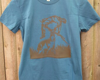 Deer vs Hunter: Women's T-shirt (Galaxy)