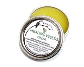 Healing Weeds Balm - Yarrow, St. John's, Plantain - Organic, Wildcrafted-  herbal remedy, salve 1/2 oz tin