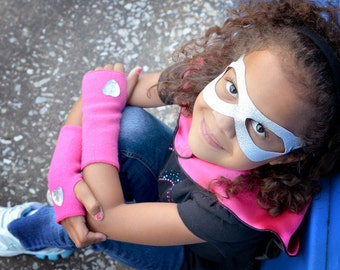 Girl Superhero Accessory Gloves - Perfect Superhero costume or cape accessory - Kid Costume - Superhero party favors