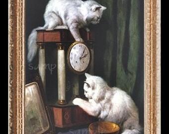 Cat Cats Kitten Miniature Dollhouse Art Picture 1576