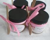 Set of 12 - 4oz-Bridal Sugar Scrub Favors//Baby Shower Sugar Scrub Favors//All Natural Sugar Scrub Favors