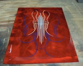 Red Kandy ground aluminum panel