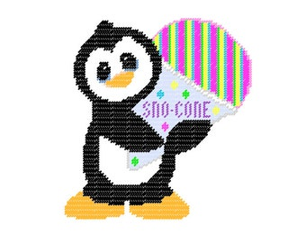 Plastic Canvas Wall Hangings Tropical Punch Sno-Cone Penguin PDF format Instant Download
