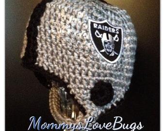 Football Helmet Crochet Beanie - Newborn through 4T Sizes Available