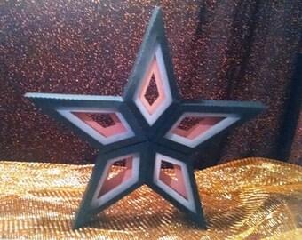 DIY large 3D star