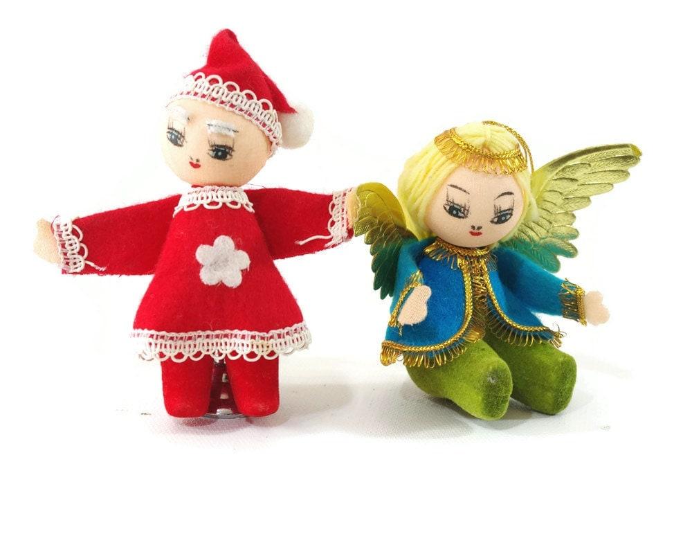Items Similar To Vintage Christmas Decorations, Santa Elf