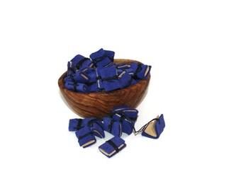 20 book wedding favors, wedding favours, wedding favor ideas, book necklace, Mini book, miniature book, leather, book charm in blue