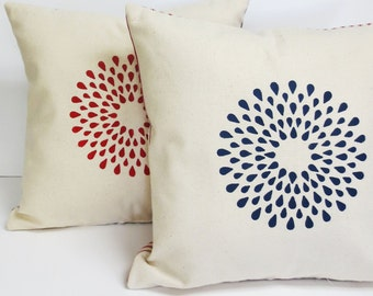 Decorative Geometric Pillow - Fourth of July Geometric Decorative Pillow