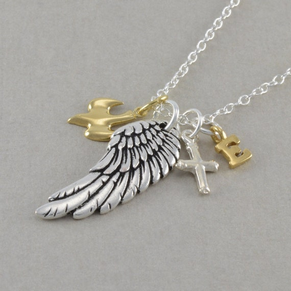 Angel Wing Necklace Dove Memorial Jewelry Personalized