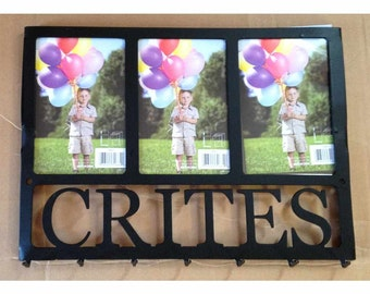 Family Name Key Rack with Three 4 x 6 Frames