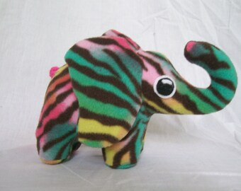Customizable Baby Elephant Plush - choose your own colors and patterns