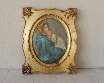 Vintage Italian Photograph, Gold Frame