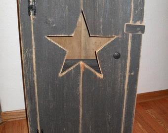 Black Primitive Star Cabinet