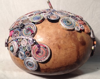 SPERICUM BOX - gourd with paper coils