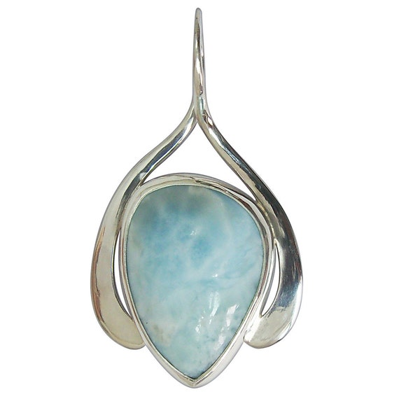 Larimar and Sterling Silver Pendant  plarg2419