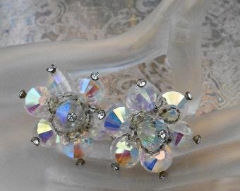 1950's Vendome Crystal Earrings