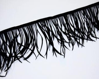12 BLACK Goose Biot Feathers
