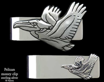 Pelican Money Clip Sterling Silver Gulf Coast Clean-up