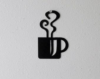 Coffee Mug Wall Art  Metal Wall Decoration