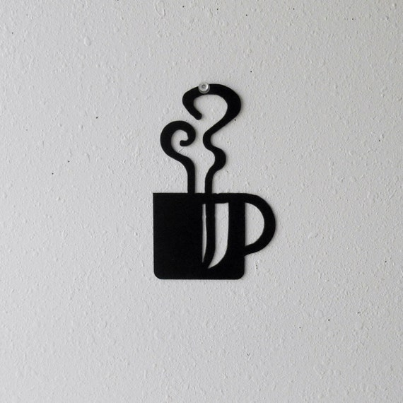 Coffee Mug Wall Art  Metal Wall Decoration