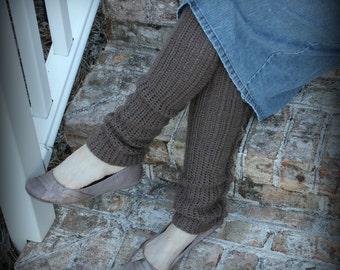 Crochet Leg Warmers with Ruffle/Wave detail