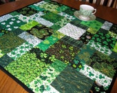 Shamrock Hodge Podge 26 inch table topper