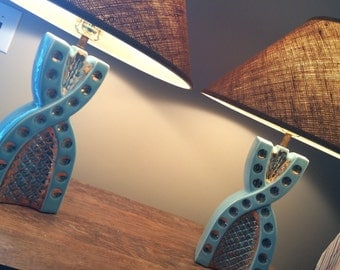 Vintage 1950's 1956 C Miller Lamps with Shades