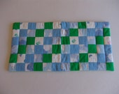 Baby Boy Changing Pad - Clouds green/blue