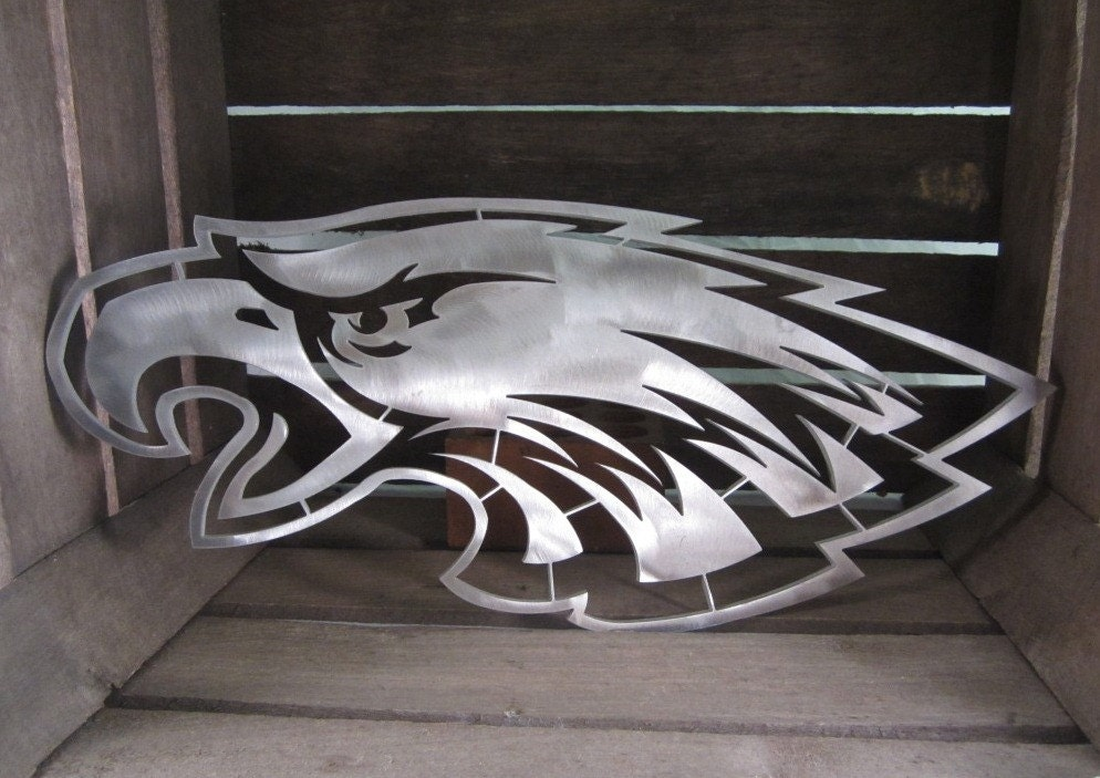 Philadelphia Eagles Man Cave Accessories : Nfl philadelphia eagles aluminum logo for the man cave sports