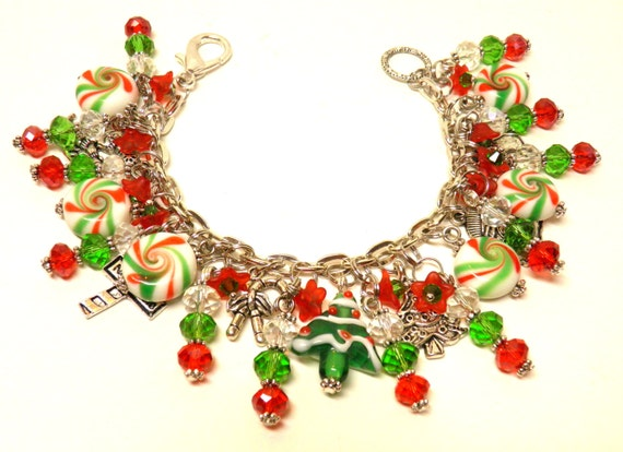Christmas bracelet tree candy artisan by