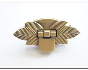 1pcs  2.5 inch anti brass leaf twist-locks Purse Flip Locks puse locks silver  purse making supplies