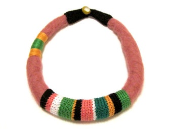 FELTED CROCHETED NECKLACE - African Style